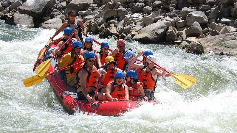 Whitewater rafting in Wind River Country